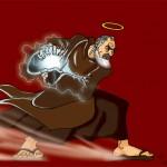 Padre Pio performing Hadoken