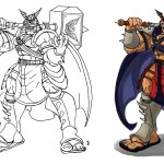 Kahn Bison (Shao Kahn + M.Bison) from the Mortal Fighter Project