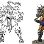 Sagoro (Sagat + Goro) from Mortal Fighter Project