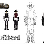 Character design for Tsukino Edward of the videogame Vapour.