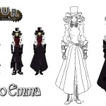 Character design for Tsukino Emma of the videogame Vapour.